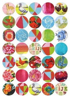 like a penny quilt...  A bit retro a bit vintage a bit graphic 15 by lovelysweetwilliam, $2.00