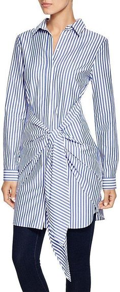 N. Nicholas Shirt Dress with Tie (£233)