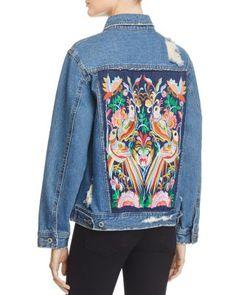 Sunset & Spring Embroidered Back Denim Jacket - 100% Bloomingdale's Exclusive | Bloomingdale's