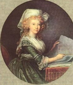 Marie Louise Amelie, Grand Duchess of Tuscany, by Vigee Le Brun. Oil on canvas. 1790