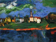 Oskar Kokoschka (German), De Elbe vlakbij Dresden (c. 1921) | Detroit Institute of Arts.