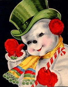 To this day I could look at these colorful old Christmas cards from my childhood for hours