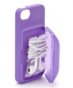 Look what I found on #zulily! Purple Earbud Storage Case for iPhone #zulilyfinds
