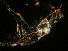 Sochi at Night : Image of the Day : NASA Earth Observatory Earth And Space, Olympic Venues, Olympic Flame, Image Of The Day, Night Photos, Nasa, Outer Space, Nice View, Cosmos