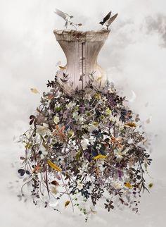 Floral Corset  www.pinterest.com/wholoves/corsets  #corsets