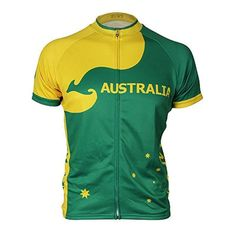 Introducing our new Australia themed cycling jersey. Cycling Art, Cycling Jerseys, Cycling Quotes, Retro Fashion, Mens Fashion, Jersey Shorts, Triathlon, Green And Gold, Sport Outfits
