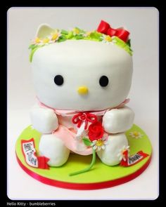 Hello Kitty  Cake by bumbleberries: this lady is out of battle creek, mi. I order delicious cupcakes from her!