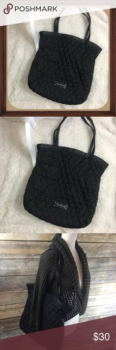 Victoria's Secret Black Quilted Sack Style Purse Black Quilted Design Sack Style Shoulder Purse. In excellent used condition. Measurements in photos 16 inches height 15 inch width 23 inch straps Victoria's Secret Bags Shoulder Bags