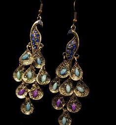 2016 Charm Jewelry Earrings Dangle Hangingr Bohemian Peacock Alloy Rhinestone…