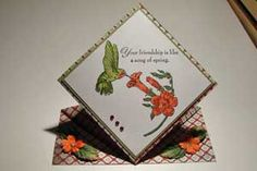 Splitcoaststampers - Spring Card Project Tutorial by Sandy Hulsart: could be a placecard, graduation cap