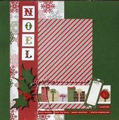 Premade Scrapbook Page 12 x 12 Christmas Layout Noel #memoriesscrapbook