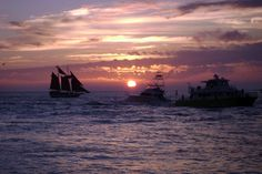 Key West Sunset looking from Mallory Square
