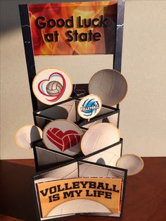 Greeting card made from the Volleyball collection from Reminisce.