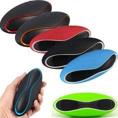 Hot Mult-function Mini Football Portable Speaker Wireless Bluetooth Speaker Mic Super Bass FM Support for iPhone for Samsung