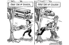 Funny pictures about First day of high school vs. first day of college. Oh, and cool pics about First day of high school vs. first day of college. Also, First day of high school vs. first day of college. Funny Shit, The Funny, Funny Memes, Funny Stuff, Funny Things, Funny Quotes, Random Things, Mom Quotes, Random Stuff