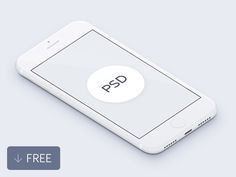 Free 3D White iPhone Mockup by Tony Thomas