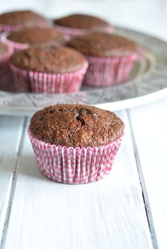 Who doesn't love chocolate, especially for breakfast? Whole wheat chocolate muffins are a great source of fiber to start your day with!