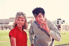 Olivia Newton-John and John Travolta in Grease. Danny Zuko, Grease 1978, Grease Movie, Grease 2, Danny Grease, Musical Grease, Grease Sandy, My Fair Lady, James Dean