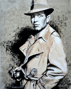 Humphrey Bogart Original Limited Signed Edition Art Prints are available for $ 35.  www.victorminca.com