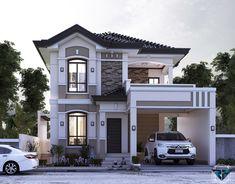 Zen House Design, Two Story House Design, 2 Storey House Design, Duplex House Design, Duplex House Plans, My House Plans, My Home Design, Loft Floor Plans, Modern House Floor Plans