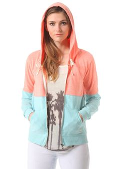 #planetsports BILLABONG - Womens Into Dust Hooded Zip Sweat blue bayou