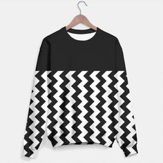 Black and White Chevron Sweater by Elena Indolfi Style #LiveHeroes