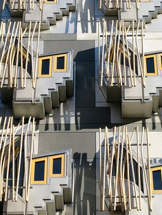 Windows on the Scottish Parliament by Jon Mountjoy, via Flickr