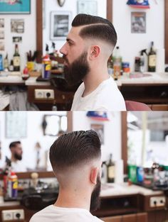 Hairstyles Haircuts, Haircuts For Men, Hair And Beard Styles, Short Hair Styles, Pompadour Fade, Gents Hair Style, Mens Toupee, Faded Hair, Beautiful Haircuts