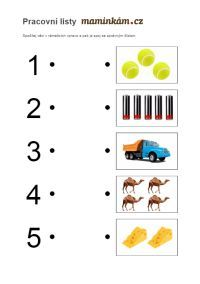 Working sheets for preschoolers - counting to 5. Pracovní listy pro předškoláky - počítání do 5. Numbers Preschool, Montessori, Counting, Worksheets, Letters, Education, Letter, Learning, Countertops