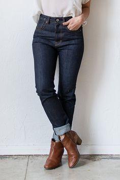 High Waist Donna X008 Raw Denim Women's Jeans