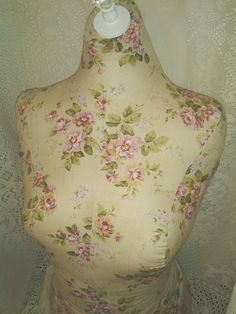 Boutique Dress form designs to waist. Life size torso great for store front home decor. Paris cottage rose shabby Bust form