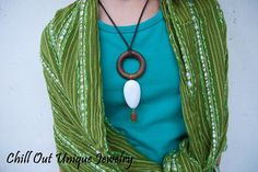 African styled wooden necklace <3