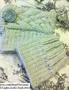 PATTERN: Ribbed & Cabled Boot Cuffs PDF File by Dovanna on Etsy