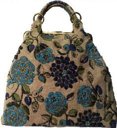 Carpet Bag Inspiration. {Great handle and can add a longer handle.}