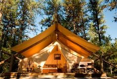 I know that this isn't really camping, but it's the way I envision camping! LJH