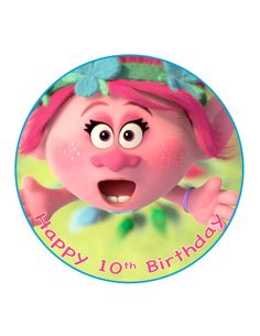 Edible Cake Cupcake Topper Decoration Image Trolls by CakersWorld
