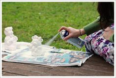 Awesome ways you can upcycle with spray paint Picnic Blanket, Outdoor Blanket, Knight, Upcycle, Canning, Awesome, Projects, Paint, Log Projects