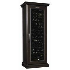 Cavavin - 171 Bottle Wild Cherry Wood Cabinet Wine Cellar - Dark Chocolate Brown