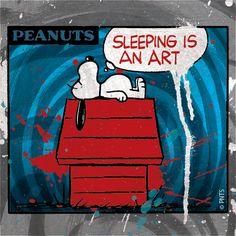 Sleeping is an art.