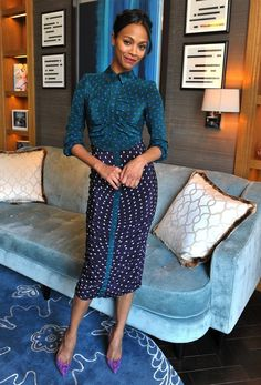 Zoe Saldana she looks amazing. Love the dress