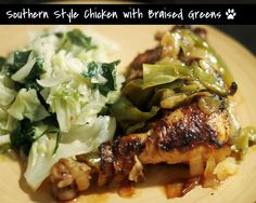Herbie Likes Spaghetti  --Southern Style Chicken with Greens  (Awesome Blog)