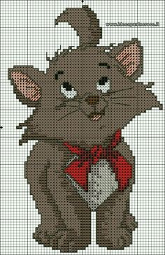 Schema bizet (aristogatti) punto croce more cross stitch baby, cat cross stitches, Cat Cross Stitches, Cross Stitch Bookmarks, Beaded Cross Stitch, Cross Stitch Baby, Cross Stitch Animals, Cross Stitch Charts, Cross Stitching, Cross Stitch Embroidery, Embroidery Patterns