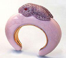bracelet bunny pink fancy diamond rigid ruby enamels high jewellery