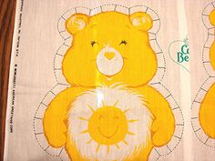 The Care Bears Sewing Fabric Panel 1980s DIY Stuffed Care Bear by FabricTreasures4U on Etsy