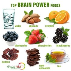 The 5 Best Foods for Brain Health Brain Boosting Foods, Foods For Brain Health, Healthy Brain, Healthy Tips, Healthy Eating, Healthy Recipes, Keeping Healthy, Clean Eating, Health And Nutrition