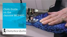 Guide Your Fabric on the Janome Janome, Sewing Tutorials, Quilts, Stitch, Fabric, Tejido, Full Stop, Tela, Quilt Sets