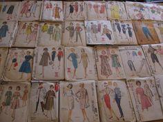 Vintage Lot 40 50s 60s Womens Dress Jacket Coat Pants Suits Sewing Patterns
