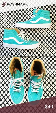 4cd1c17d52f Shop Men s Vans Blue size Sneakers at a discounted price at Poshmark.  Description  Vans shoes - Turquoise - Size US - New Sold by heyitslea.
