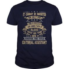 EDITORIAL ASSISTANT T-Shirts, Hoodies. ADD TO CART ==►…