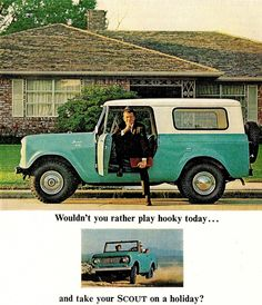 Had one this color in HS - great Ski travel car, great car for anything. International Scout I loved you.